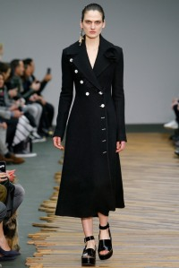 Celine - Love love love the black trench coat with monochrome details.