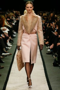 "Givenchy - Blackmail stockings making a come back with gorgeous ""Gatsby"" style heels. Love the centre split in the skirt."