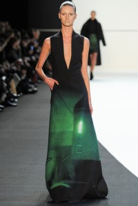 Akris - Screams Evening Matrix. Love the contrast of the emerald green against the black.