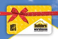 A Builders Warehouse Gift Card for an amount of your choice