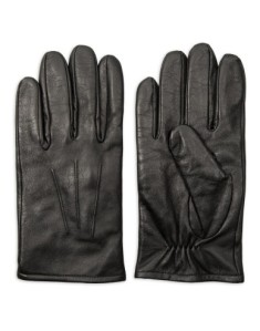 A set of mens black leather gloves from Woolworths  R280.00