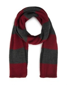 A stripe knit scarf from Woolworths  R210.00