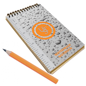 A waterproof notepad from Cape Union Mart  R75.00