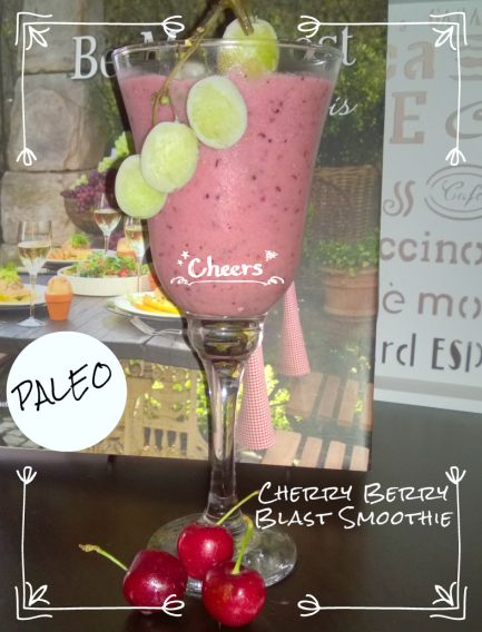 Paleo Cherry Berry Blast Smoothie