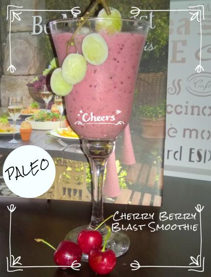 Paleo Cherry Berry Blast Smoothie